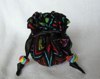 Fabric Jewelry Bag - Mini Size - Jewelry Pouch - Drawstring Travel Tote - TRIPPING