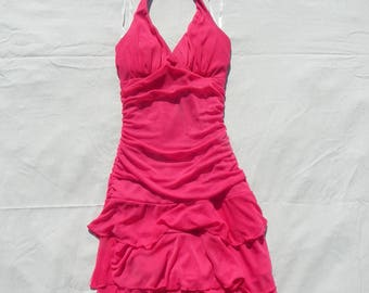 Neon Red Prom Dress