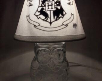 Mason jar small lamp, nightlight - Harry Potter, Hogwarts influenced