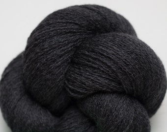 Wet Slate Recycled Extra Fine Grade Merino Lace Weight Yarn, Charcoal Gray, EFM00245