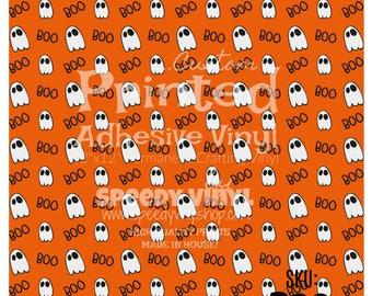 "Boo: Halloween Printed Adhesive 12""x12"" Vinyl Boo Craft Vinyl for Cricut Cameo Silhouette 651 Equivalent"