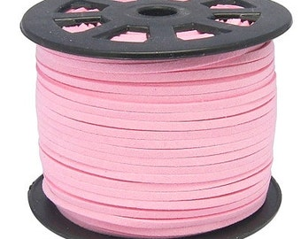 15ft Pink Faux Suede Cord 3mm ( No.019)