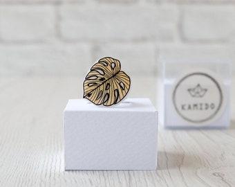 Gold Monstera Ring