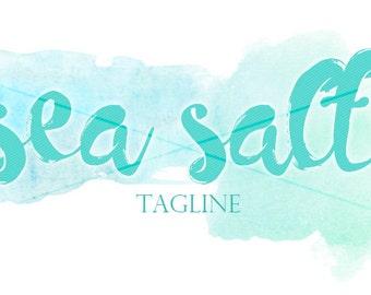 Sea Salt Premade Blog Header | Watercolor | Premade Logo