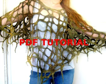 Freeform Lace Felt PDF Tutorial Pattern - Instant Download  Experienced Feltmakers
