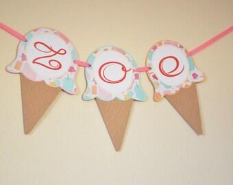 Ice Cream Banner - Sweet Shoppe Banner - Hootsie