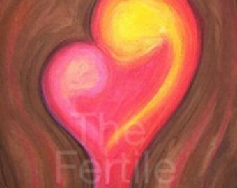 Fertility Artwork, A Mothers Love, Inspiring, Positive art, Pregnancy Imagery, Hope, Pregnant Mother, Infertility, TTC, Mother's Day Sale