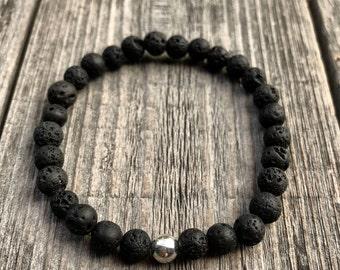 Lava Stone Bracelet, Lava Rock, Essential Oil Diffuser Bracelet, Mala Bracelet, Healing Crystals, Yoga Bracelet, Lava Bracelet, Lava Beads