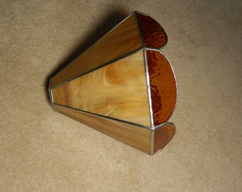 Ceiling Fan Lamp Shade- Stained Glass (Amber)
