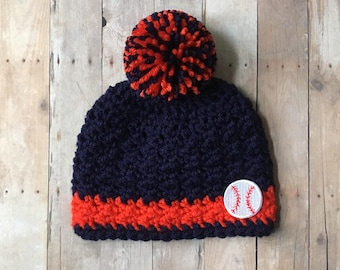 Detroit Tigers, Detroit Tigers Hat, Detroit Tigers Baby, Baseball Hat, Baby Hats, Toddler Hat, Kids Hat, Mens Hat, Womens Hat, PomPom Hat