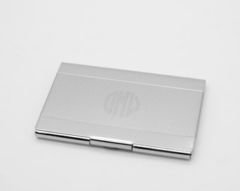 Engraved card holder etsy personalized business card case engraved card holder with shiny surface executive gift colourmoves Images
