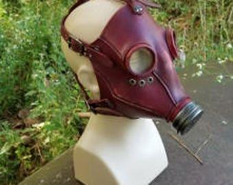 Atemschutzmaske Mk I, antiqued burgundy finish. Ready to ship!