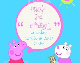 Peppa Pig Birthday Invite