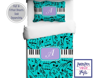 Music Bedding - Music Bedroom - Theatre Bedroom - Music Comforter or Duvet Any Color