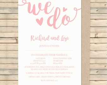 Wedding Invitation, Wedding Stationery, Wedding Invite, Invitation