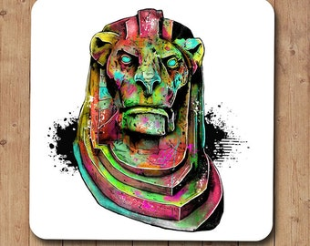 Neon Lion Coaster