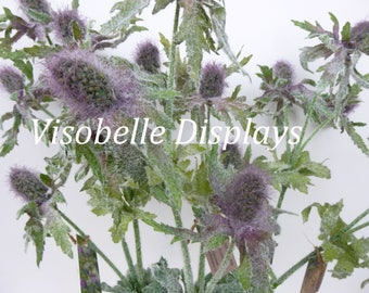 Artificial Sea Holly Thistle Flower Purple and Green