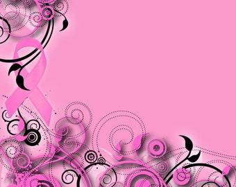 Pam's Pals Pink Ribbon Custom Scrapbooking Paper