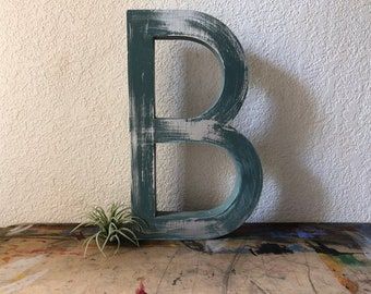 "Large Reclaimed Metal Sign Capital Letter ""B"" Wedding,Industrial Salvage, Home Decor, Office Decor, Industrial Decor"