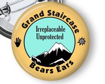 Bears Ears Pin/ Grand Staircase Pin/ National Monument Pin/ National Parks/ Save Bears Ears/ Save Sacred Land/ Save Native Land