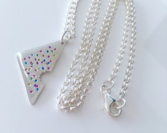 Fairy Bread midi-pendant necklace