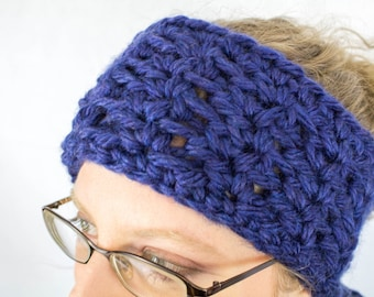 Super Bulky Lace Headband - Crochet Ear Warmer Pattern Instant Download PDF