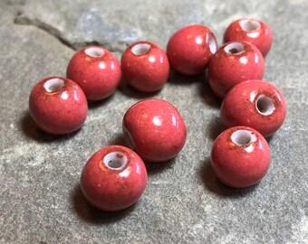 Handmade ceramic beads Ceramic beads Porcelain clay beads for jewelry