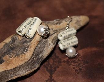 Paper beads earrings