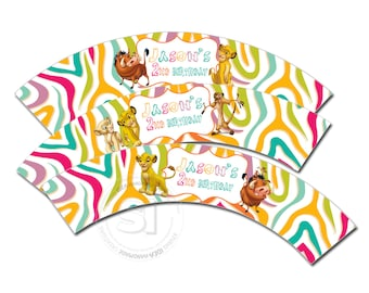 Simba Customized Printable Cupcake Wrappers-Personalized Printable Lion KIng Liners- Simba and friends YOU PRINT-Digital file