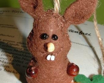 Bookmark Bunny & Carrot felt-for reading rats-bookmark-carrot-Rabbit-felt