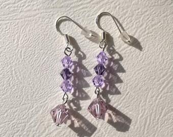 Pearl wedding earrings Swarovski Crystal hook earrings in 925 Silver - bridal earrings - wedding jewelry