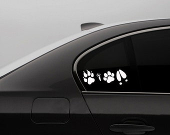 Harry Potter Decal - The Marauders Map Paw Print Decal - Harry Potter Decal Macbook Yeti Decor Sticker Moony Wormtail Padfoot And Prongs