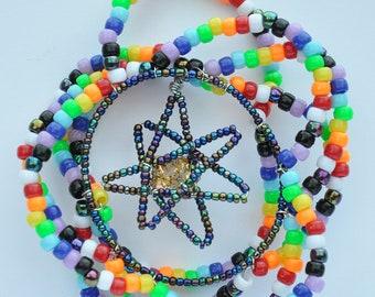 Orgone Energy Sun Catcher, Rainbow Flower Star