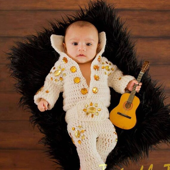 sc 1 st  Etsy & Crochet Baby Elvis Costume.