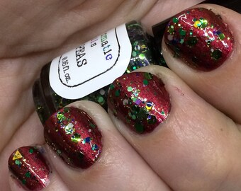 Four Peas Nail Polish - 'Secretary'-inspired glitter topper