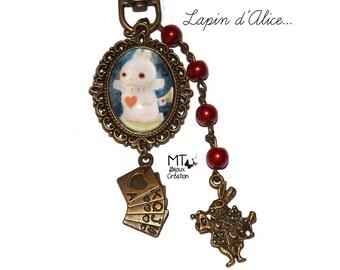 """""""Alice Bunny"""" keychain"""
