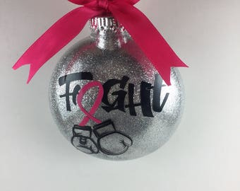 Breast Cancer Ornament / Breast Cancer Survivor Gift / Breast Cancer Awareness / Breast Cancer Gift / Breast Cancer Gift