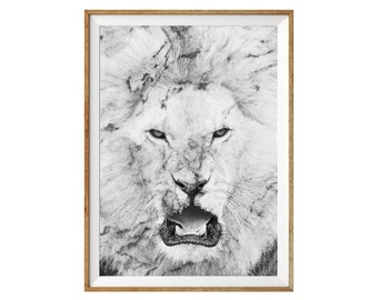 Marble Lion Print