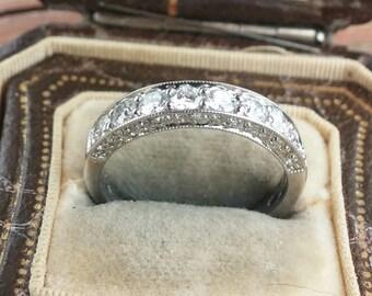 14k Gold 1ct Diamond Wedding Ring Band