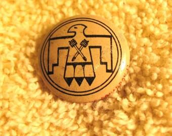 Vintage  1946 KELLOGGS cereal cornflakes PEP pin advertising prize premium navy bombing fighting squadron 12