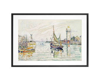 View of Les Sables d'Olonne - Paul Signac - 1929 Post-Impressionist Watercolor and black crayon High Quality Print