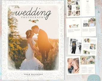 ON SALE Wedding Photography Magazine - Photoshop Template 24 Page  - PG010 - Instant Download