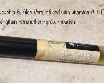 Eyelash & eyebrow growth wand for length, fullness and thickness. Gentle, effective, Non Toxic! Organic vitamin E, A lash + brow wand
