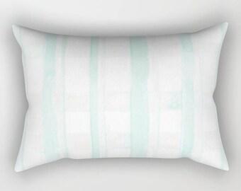 Plaid Accent Pillow- Rectangular Pillow- Lumbar Pillow- Mint Pillow- Throw Pillow- Geometric- Mint- Modern Pillow- Plaid Pillow- Pillows