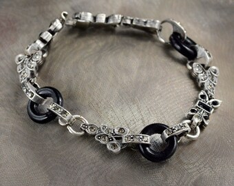 Art Deco Bracelet, Wedding Bracelet, Bridal Bracelet, Deco Bracelet, Art Deco Jewelry, Gatsby Bracelet, Wedding, Bridal Jewelry BR404