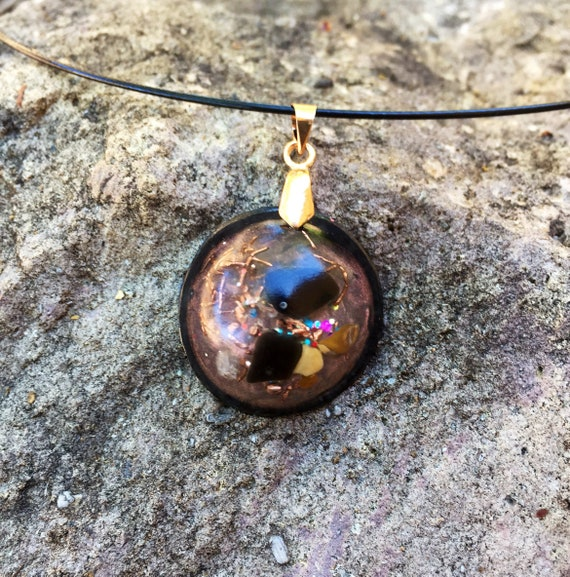 EMF Protection Orgone Pendant- Shungite Orgone Necklace- Cleansing Energy & Chakra Balancing Orgone- For Astral Projection Genetic Memory