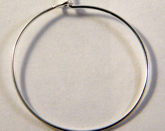 4 rings holders / 25 mm silver hoop earrings