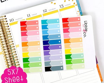 MC83 Rainbow Budget Stickers! Set of 30 Perfect for the Erin Condren Month in View Planner!!!