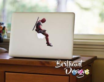 Deadpool Decal, Deadpool Macbook Decal, Deadpool Sticker, Deadpool, Deadpool Skin, Deadpool MacBook Pro Decal, Marvel Decal, Christmas Gift