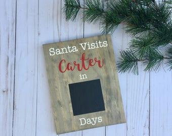 Christmas Countdown, Christmas Signs, Personalized Christmas Signs, Christmas Wood Sign, Santa Sign, Countdown to Christmas, Countdown Sign